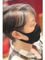 プロ提案のグレーヘア ☆ヘアマニキュアでデザインカラー