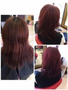 ヘアーメイク カリユ(HAIR MAKE kariyu)ベリーピンクカラー