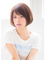 【富雄nao*c tres】大人かわいい小顔☆ナチュラルショートボブ