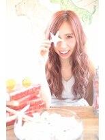 CieL☆英国少女風ピンクラベンダー波打ちロングTEL 0425220202