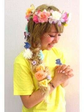 関連の写真 髪型 ミディアム アレンジ 体育祭