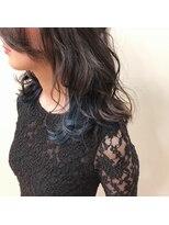 インナーカラー*ブルー