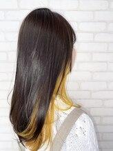 ビス ヘア アンド ビューティー 西新井店(Vis Hair&Beauty)10代20代インナーカラー×イエロー