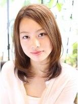 ヘアーデザイン リント(hair design Rinto)ばっさりおすすめ小顔になるレイヤーミディアムヘアスタイル