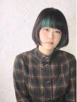 ハテナ(hatena)黒髪ボブ×デザインカラー