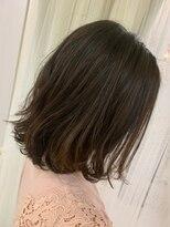 ヘアアンドメイクグラチア(HAIR and MAKE GRATIAE)外ハネ♪ミィデアムボブ^_^
