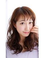 ピースナンバ(PEACE NAMBA)シースルーバンク+ゆるふわカール…国際美容師しみっちゃん