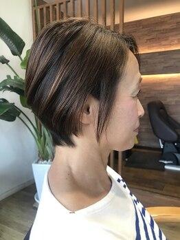 ヘア アトリエ マム(hair atelier mum)の写真/繰り返しメンテナンスが必要な白髪染めだからこそ!《スキンケアカラー》で髪や頭皮への負担を最小限に☆
