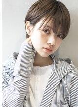 ヘアサロンガリカアオヤマ(hair salon Gallica aoyama)小顔ショート ☆ 透明感ショコラアッシュ