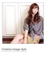 ヴェローグ シェ ブー(belog chez vous hair luxe)【Creative image style】タンジェリンオレンジのつや髪ロング