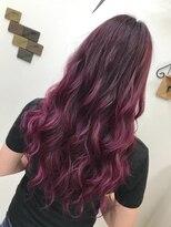 【ピンクバイオレット】原色カラーで派手髪に!【NEXT池袋】
