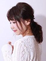 ブラン(Blanc)【Blanc hair】ざっくりポニーテール
