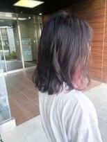 ヘアメイク シュシュ(Hair make chou chou)ピンクラベンダーのインナーカラー【chou-chou 北林夏実】