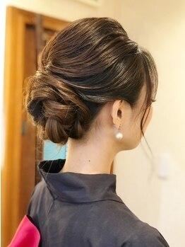 """ヘアースタジオ ミツル(hair studio 326)の写真/大切な日はプロの技でいつも以上の""""可愛い""""を演出♪かっちりStyleから可愛いStyleもTPOに合わせてご提案!"""