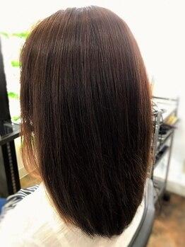 トータルビューティ トゥルースの写真/【頭皮が主役のヘアサロン☆】刺激の少ないオーガニックカラーで髪をいたわりながらキレイに!!