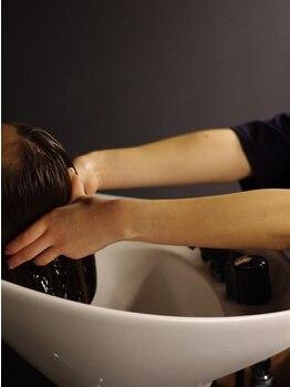 ラウンジ ヘアー 吉祥寺(ROUNGE hair)の写真/女性Stylistが担当―至福の炭酸ヘッドスパTr¥4000―落ち着いた空間で、寝落ちしてしまう方続出☆