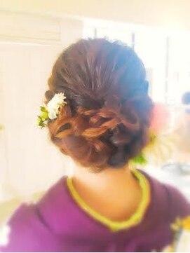 結婚式 髪型 和装cercaアップ