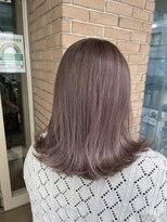 サロンドミルク 原宿(salon de MiLK)柔らかい質感のベージュ ピンクを添えて 艶髪 髪質改善