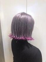 ヘアサロン ドット トウキョウ カラー 町田店(hair salon dot. tokyo color)【White silver/pink】ダブルカラーカラーリスト田中 【町田】