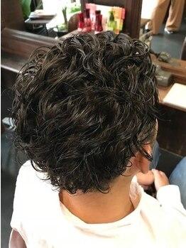 千凛の写真/JR二条2分/仕事帰り◎Cut+眉Cut+頭皮shampoo¥3,990!ON/OFF切り替えられるパーマStyleがビジネスマンに人気!