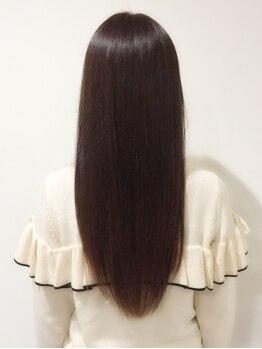ヘアー ブラット(hair Brat)の写真/【祝3周年★】毛先まで自然&柔らかな上品な質感で大満足!!うっとりする手触りに☆前髪などの部分矯正も◎