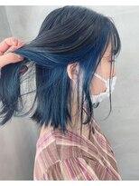*【SUN】インナーネイビーブルーカラー 蜂谷咲季