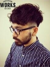 ワークス ヘアデザイン(WORKS HAIR DESIGN)メンズ外国人風シルエット刈り上げパーマショートヘアー