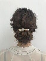 結婚式およばれヘア