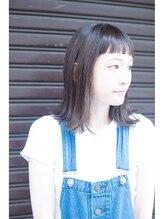 モノ ヘアー(mono.hair)<mono.snap>短前髪×切りっぱなしボブ