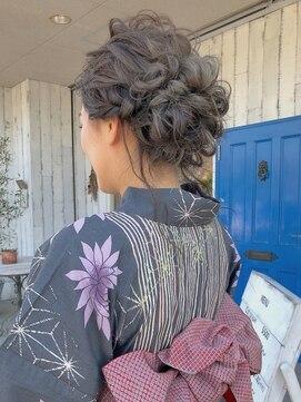 ポルトブルー(PORTE BLEUE)浴衣ヘアセット