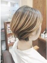 クレドガーデン 浦和店(CRED GARDEN)伸ばしかけカラー × ハンサムショート