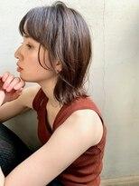 キラ 原宿 表参道(KILLA)【山下未紗】小顔 ハイライトカラー くすみカラーオリーブカラー