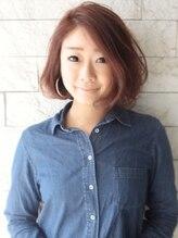 ヘアーデザイン スロープ 稲毛海岸店(Hair Design Slope)ウォームブラウン×ボブ