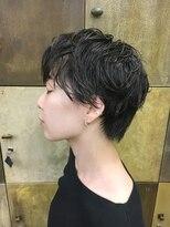 ヘアーアイスカルテット(HAIR ICI QUARTET)黒髪女子 × ショート × パーマ