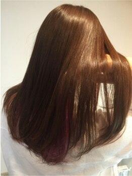 ナンブスカイ(nambu-SKY)の写真/ツヤツヤの髪が手に入るのは『nambu-SKY』スタイリストが厳選したトリートメントを使用!艶髪自慢しよう☆