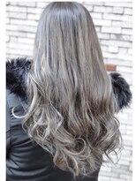 ヘアーデザイン キャンパス(hair design Campus)【アディクシーRカラー】濃密シルバーグレージュ×ハイライト