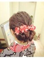 まとめ髪 和 卒業式(3)