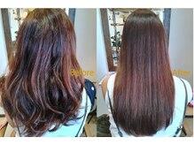 アメイロ ヘアープラスカフェ(ameiro hair+cafe)の雰囲気(髪質改善ストレートでダメージ毛やクセ毛も扱いやすい髪に☆)