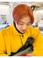 チカシツ(Chikashitsu)19ss orange beige short