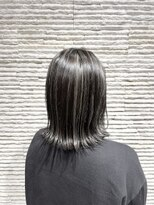 ビス リアン 川口店(Vis lien)切りっぱなし/ボブ/ハイライト/グレージュ/透明感/赤み消し