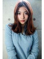 ラフィス ヘアーピュール 梅田茶屋町店(La fith hair pur)【La fith】 チェリーレッドミディアムスタイル