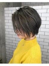 ルーナヘアー(LUNA hair)【京都 ルーナ】ショートボブ×コントラストハイライト 平塚光