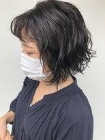 ヘアー アイス カンナ(HAIR ICI Canna)暗髪カラー×パーマ