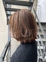 エメヘアブランズ(EME hair brands)ボブ×レイヤー×オレンジ×ワンカール シマズ