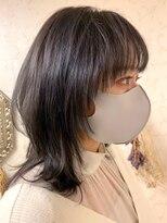 イーエル 近鉄パッセ店(e.ll)20代30代大人可愛い☆透明感アッシュ小顔ウルフレイヤー