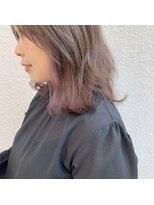マイ ヘア デザイン(MY hair design)薄いPINKチラ見えカラー