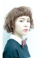 ミンクス ハラジュク(MINX harajuku)【イノセントカラー☆】ショートバング×ゆるふわパーマ×ボブ