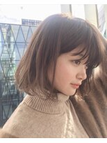 ガーデン ハラジュク(GARDEN harajuku)【鈴木ゆうすけ】大人かわいいボブ × シアーベージュ