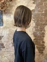 マギーヘア(magiy hair)magiyhair【nico】外はねボブ ミルクティーカラー