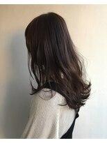 ヘアメイク オブジェ(hair make objet)パープルブラウン ロング KAI